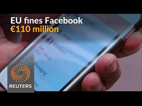 EU antitrust body fines Facebook 110 mln euros over WhatsApp deal