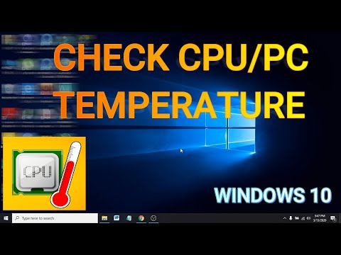 How To Check PC / CPU Temperature On Windows 10