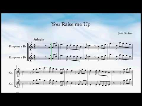 You Raise Me Up Clarinet