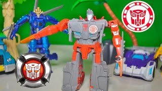 Ninja Moves Transformers Rescue Bots & Robots in Disguise  Ninja Mode to Vehicle Toy Review