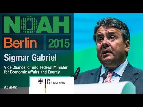 Sigmar Gabriel,  Federal Republic of Germany - NOAH15 Berlin