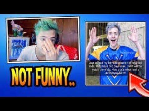 Ninja Reacts To His Snapchat Memes Triggered Fortnite Epic Youtube