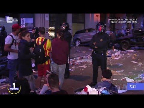 Tensione altissima tra Madrid e Barcellona - Unomattina 21/09/2017