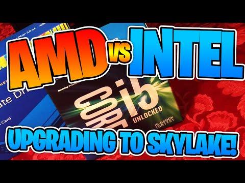 AMD VS INTEL! - Intel Core i5 6600K VS AMD FX 9590 CPU Showdown!! - Upgrading to SKYLAKE!!