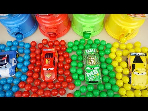 Candy dispenser and car toys cars play