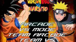 DBZ vs Naruto M.U.G.E.N (Hi-Res) Test Video