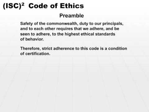 isc2 code of ethics pdf