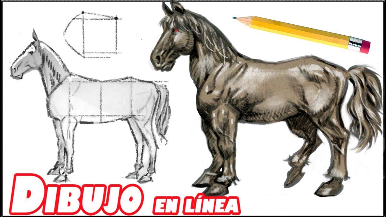Como dibujar un caballo (explicado paso a paso) - YouTube