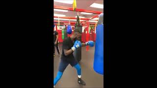 Ry'Shine Collins works out before July 20, 2019 fight