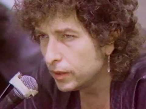 Dylan press conference, 1986, Brett Whiteley Studio, Sydney