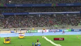 Bershawn Jackson wins the final Men's 400m Hurdles Semi Final heat
