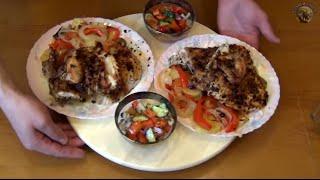 Рецепты Лео. Курица с гарниром, запеченная в духовке. Дегустация гречишного полугара