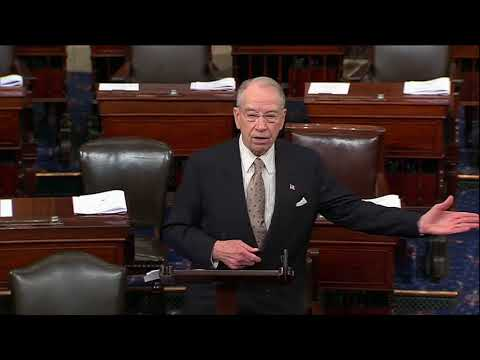 Grassley on Immigration/Border Security: Time for Political Posturing is Over