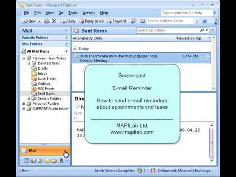 How to send e-mail reminders about appointments and task in Outlook ...