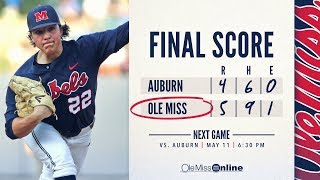 HIGHLIGHTS | Ole Miss defeats Auburn 5 - 4 (Game 1) 05/10/18 #WAOM #FinsUpRebels