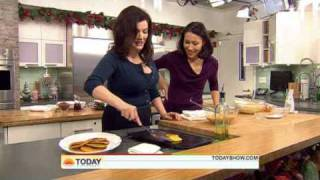 Nigella Lawson - Pumpkin Pancakes with Sticky Maple Pecans