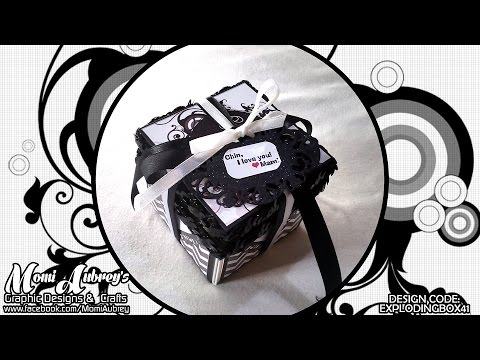 Black and White Exploding Gift Box (Small) for Anniversary, Monthsary or Birthday