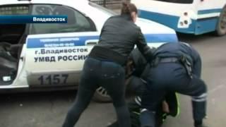 Автоинспекторам Владивостока пришлось столкнуться с буйными нарушителями