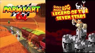 Mario Kart 64/Super Mario RPG Mashup - Fight Against an Armed Boss/Kalimari Desert