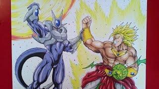 Drawing Cooler vs Broly   Dragonball Z   TolgArt