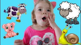 Anabella, Vlad si Bogdan in vizita la ferma de animale | Video pentru copii
