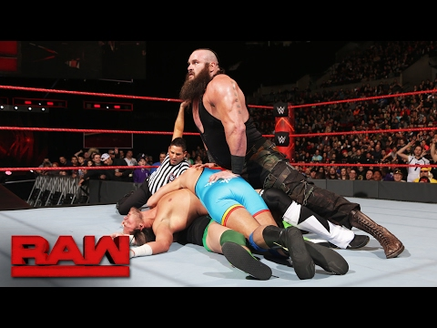 Braun Strowman vs. local competitors - 4-on-1 Handicap Match: Raw, Feb. 6, 2017