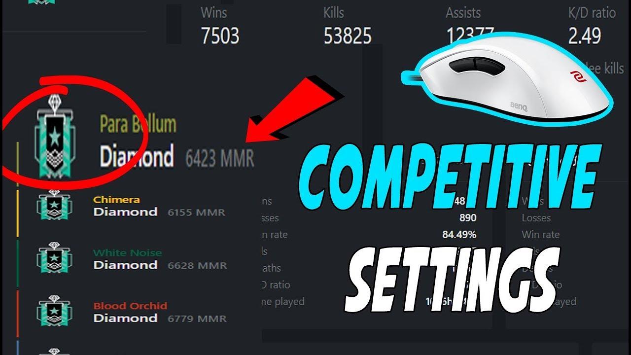 Best Diamond Competitive inGame Settings - Rainbow Six Siege