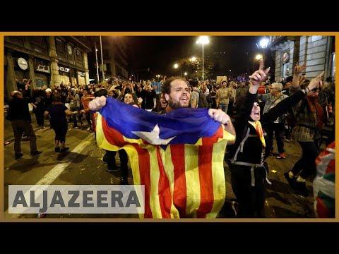 Al Jazeera English: Pro-separatists stage new Barcelona rallies