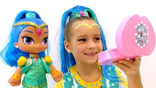 Shimmer and Shine MAKEUP Tutorial for Kids & Costume Princess! Sofia Plays with Toy and Doll