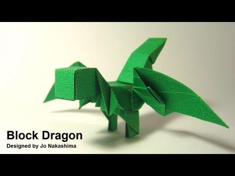 Origami Block Dragon (Jo Nakashima) - YouTube - photo#18