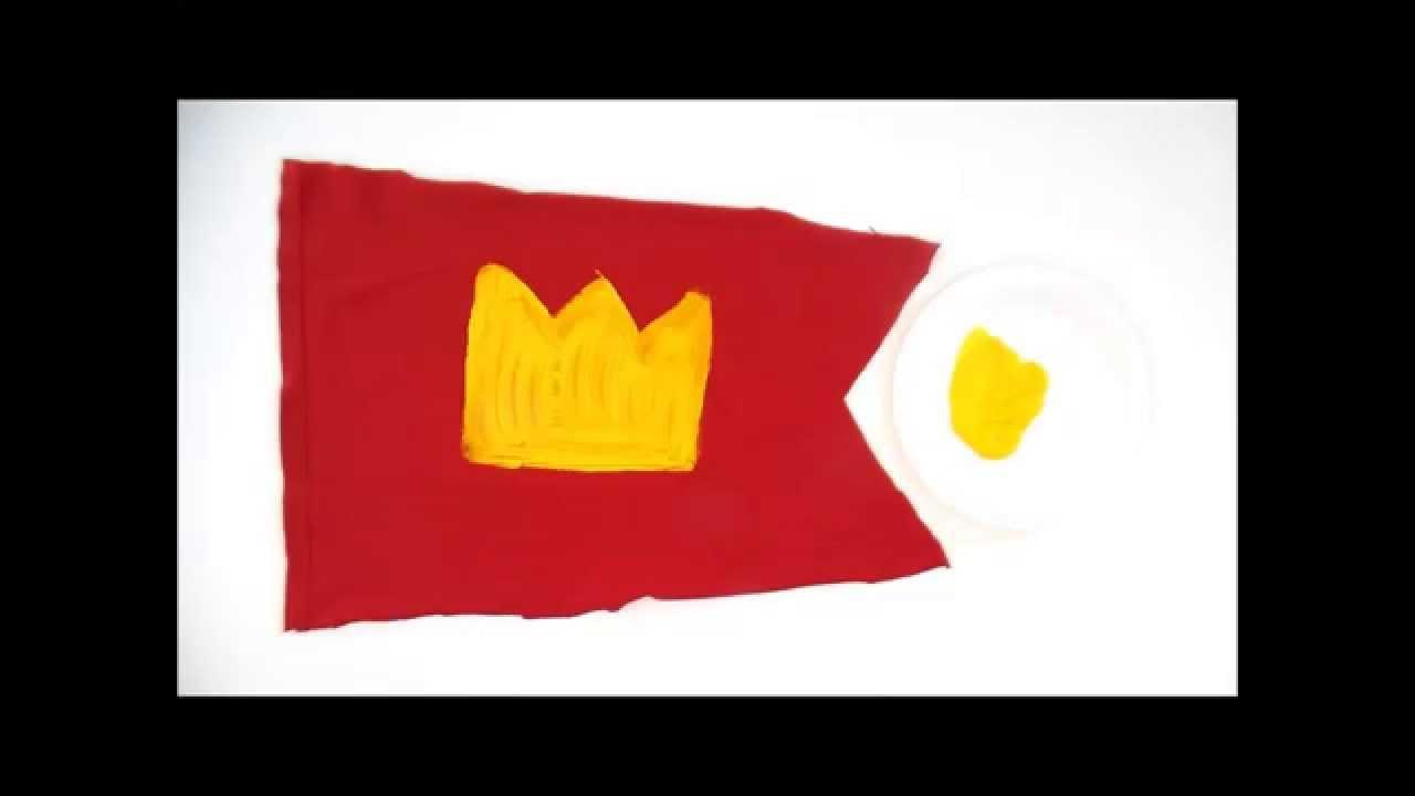 Souvent Bricolage enfant. Fabriquer un drapeau de chevalier - YouTube WD36
