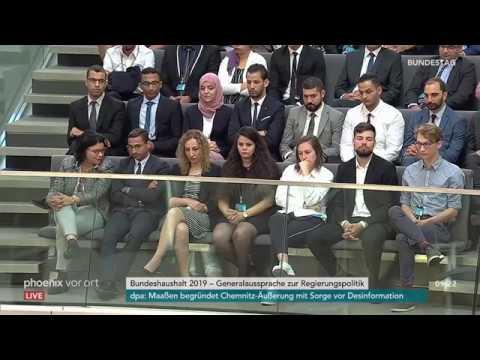 Rede von Bundeskanzlerin Angela Merkel zur Regierungspolitik am 12.09.18
