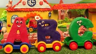 ABC TRAIN, CLAY ALPHABET, abc songs, abc kids tv, nursery rhymes, kids songs, abc alphabet learn