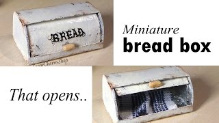 Miniature Bread Box (that Opens) - Tutorial