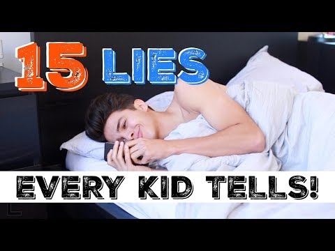 15 LIES EVERY KID TELLS! | Brent Rivera