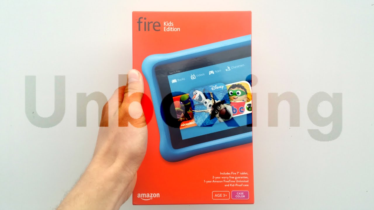Amazon Fire Tablet Kids Edition Unboxing Setup Youtube