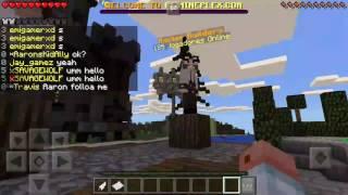 Minecraft  build battle polvo laranja