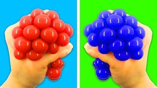 20 STRESS RELIEVERS! HOW TO DIY SQUISHY STRESS BALLS