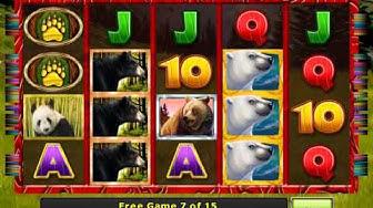 Bear Tracks videoslot gameplay video GlobalSlots Casino