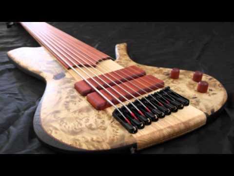 prometeus guitars rapace 9 strings fretless youtube. Black Bedroom Furniture Sets. Home Design Ideas