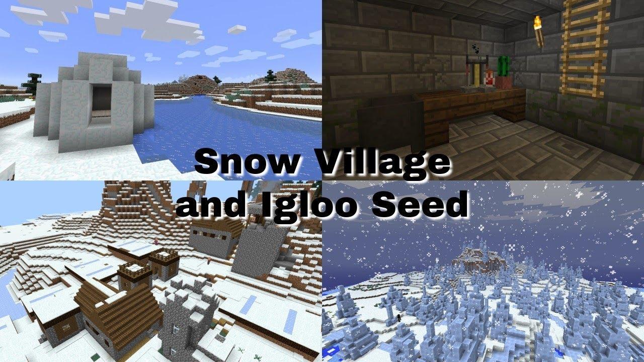 Igloo and Snow Village Seed - Minecraft Bedrock Edition