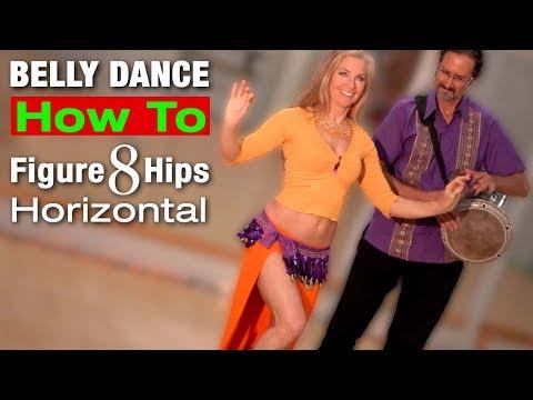How to Belly Dance HIP FIGURE 8 Horizontal - Jensuya Belly Dance