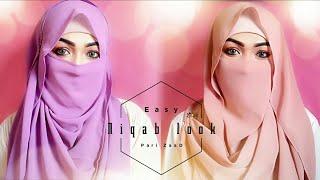 Easy Niqab Summer Special Hijab Tutorial | Pari ZaaD