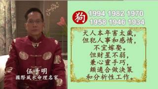 伍子明師傅2017丁酉火雞年生肖運程-肖狗