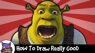 ✐ How To Draw Really Good - Shrek ✐