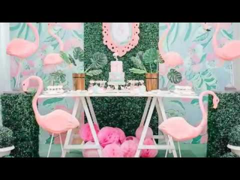Flamingo Themed First Birthday via Little Wish Parties Childrens Party Blog