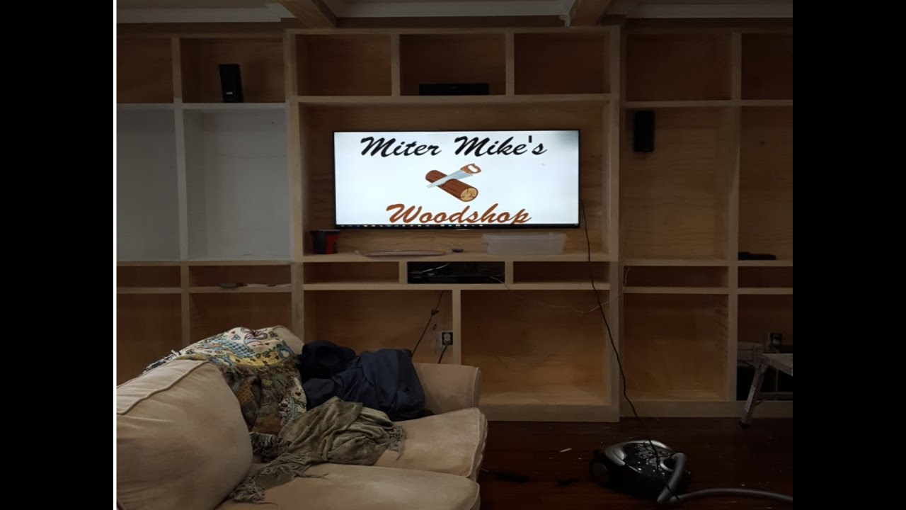 Built-ins for my Living room - YouTube