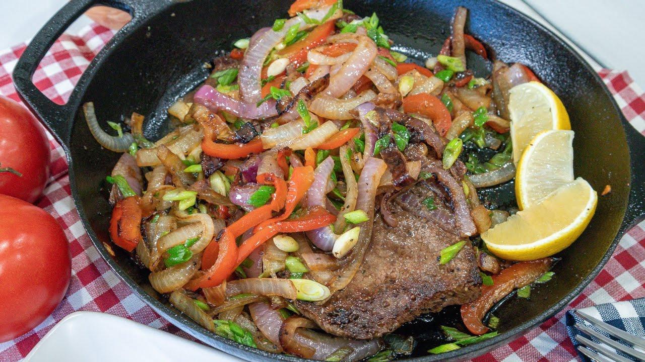 🥩Como cocinar bistec encebollado correctamente🥩