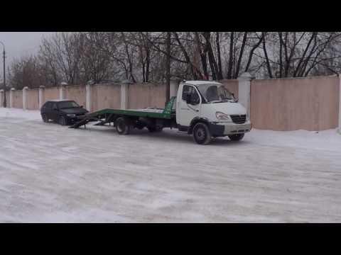 Погрузка легкового автомобиля на эвакуатор в Железнодорожном