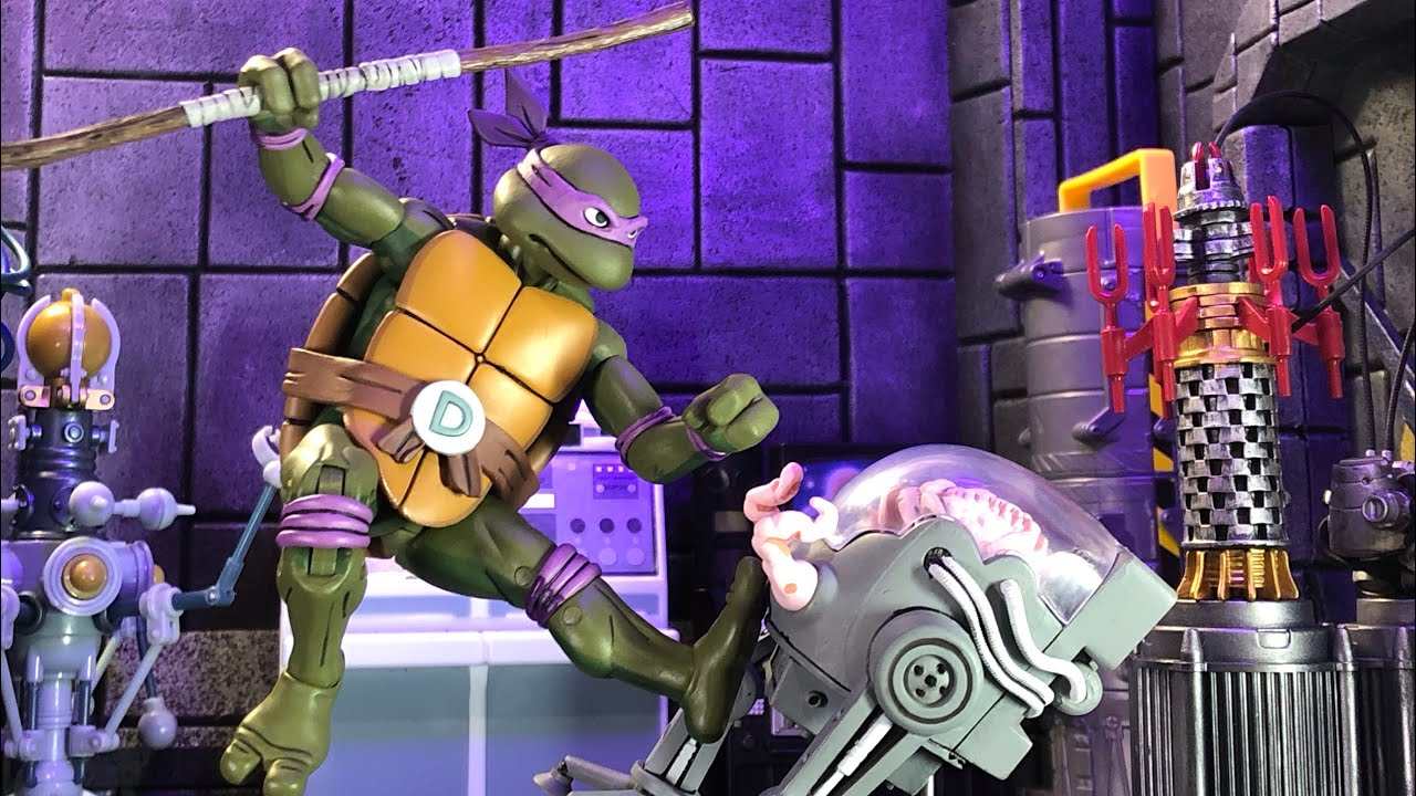 Teenage Mutant Ninja Turtles Cartoon Donatello Vs Krang In Bubble Walker Overig Speelgoed En Spellen